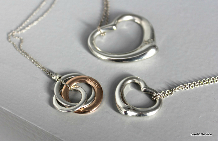 one little vice lifestyle blog: Sterling Silver Open Heart and Interlocking Circles
