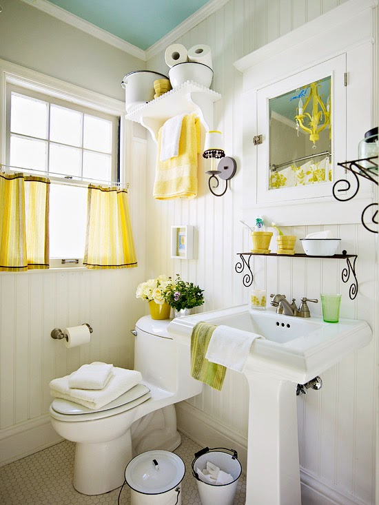 5 Decorating Ideas For Small Bathrooms: Modern Furniture: 2014 Clever Solutions For Small