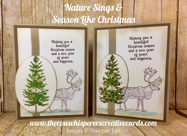 Card, Season Like Christmas, Nature Sings, Retiring Stamp Set