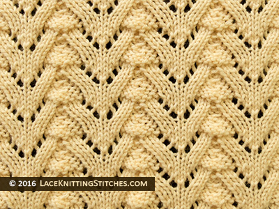 Norwegian Fir Lace Knitting stitch.