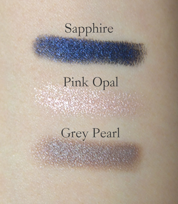 Laura Mercier Caviar Sticks Swatches Sapphire, Pink Opal, Grey Pearl