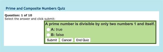 Cuestionario variado sobre números primos y compuestos