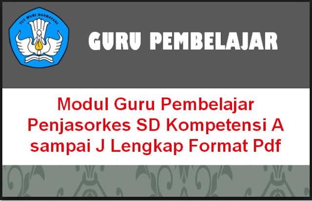 Download Modul Guru Pembelajar Penjasorkes SD Kompetensi A sampai J Lengkap Format Pdf