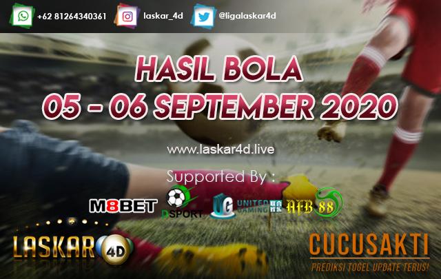 HASIL BOLA JITU TANGGAL 06 - 07 SEPTEMBER 2020