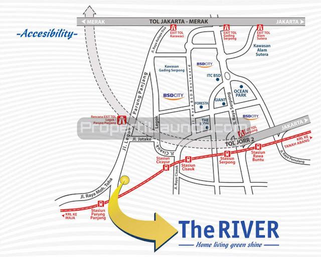 Peta Lokasi Perumahan The River Parung Panjang Bogor