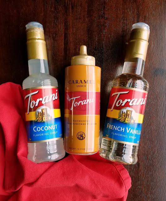 bottles of Torani syrups