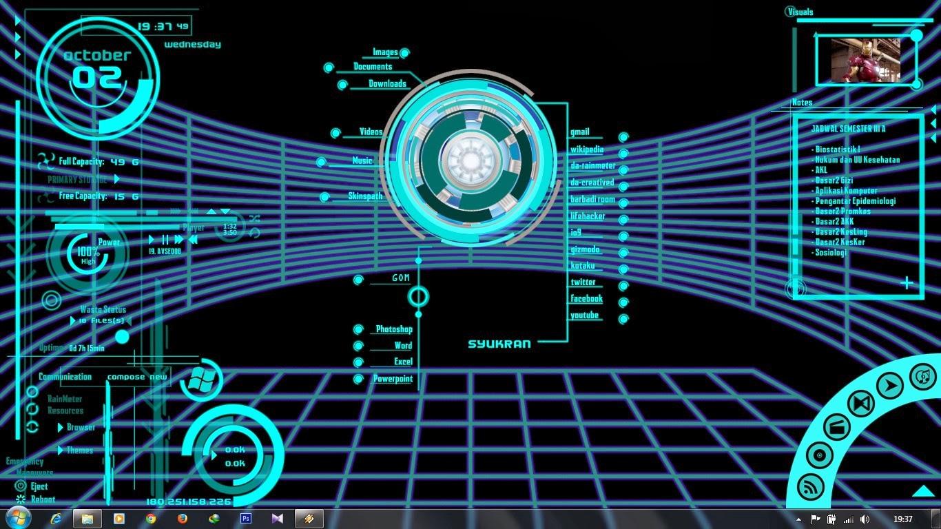 Iron Man Jarvis 10 Animated Backgrounddesktop Download