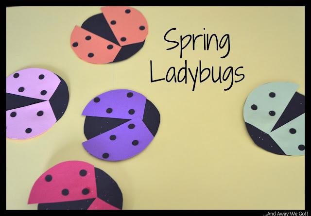 Paper Crafts, spring ladybugs, making paper ladybugs