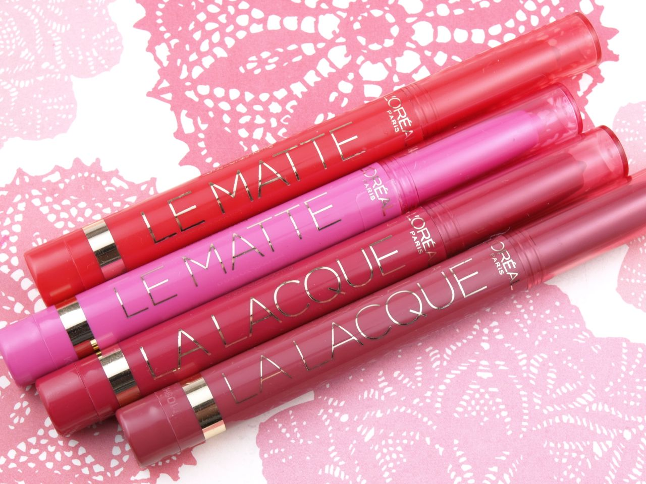 L'Oreal Le Matte & La Lacque Full Coverage Lip Colors: Review and Swatches