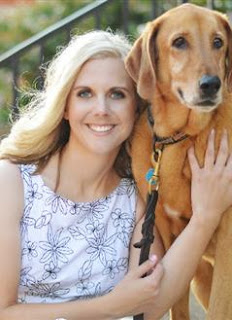 Michelle Huntting and her Bloodhound mix, Boy