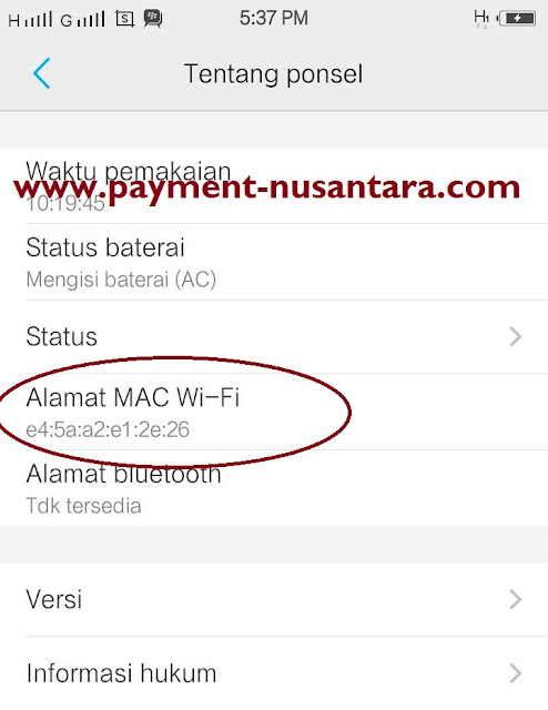 Cara Cek Mac Address HP Android