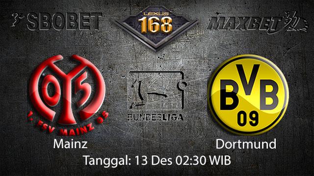 PREDIKSIBOLA - PREDIKSI TARUHAN BOLA MAINZ VS DORTMUND 13 DESEMBER 2017 ( GERMAN BUNDESLIGA )
