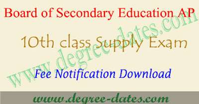 AP ssc supplementary fees last date 2017 ap 10th fee details