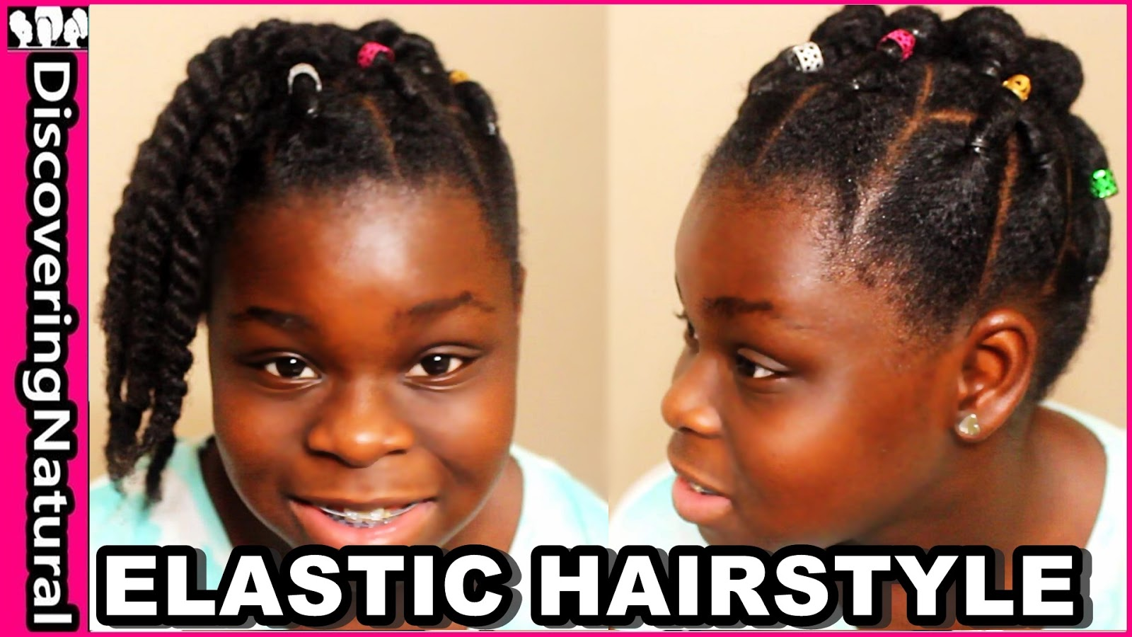 discoveringnatural: cute elastic natural hairstyles: rubber band