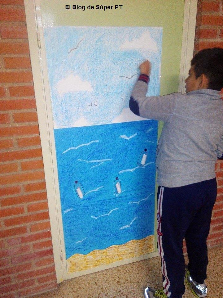 S per pt puerta para el dia de la paz for Puertas decoradas enero