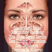 Tanda Awal Anda Menghidap Resdung Jika Anda Kerap Bersin Dan Hidung Tersumbat.Jom Cegahnya Sebelum Ia Memudaratkan.