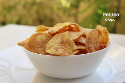 how to make perfect potato snack crispy snacks  wafers potato crisps ayeshas kitchen