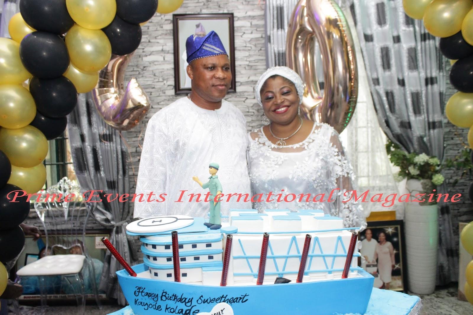 Toyin Kolade and her husband