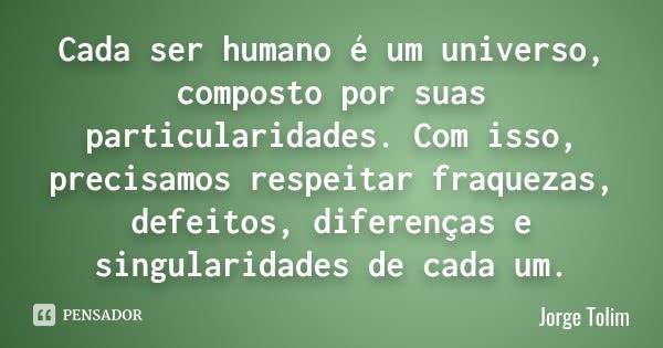 Cada ser humano...