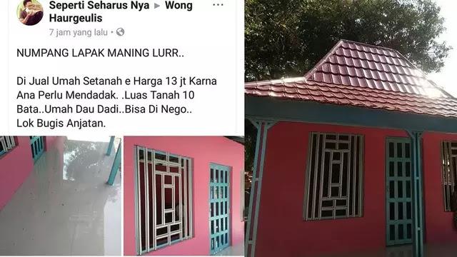 Heboh Rumah Dijual 13 Juta Bisa Nego, Begini Penampakan Rumahnya!