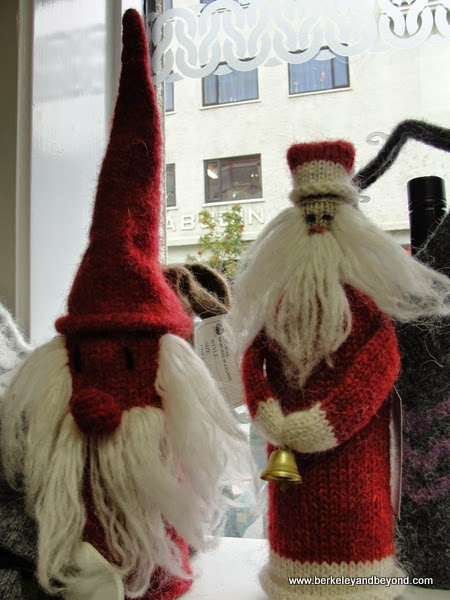 knit Santas in Handknitting Association of Iceland shop on Skolavordustigur, Reykjavik, Iceland