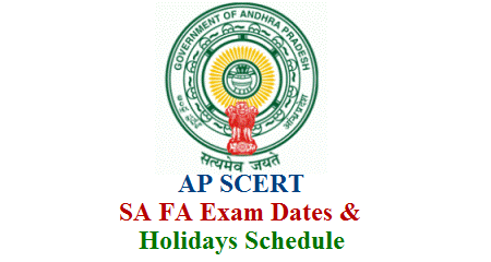 AP Schools FA SA 1 SA 2 Exam Dates Holidays Schedule in Andhra Pradesh - AP SCERT  SA-1 SA-2 Summative Assessment  Examinations 2018 Time Table for AP Schools  SA-1 SA-2 Summative Assessment Exams Time Table for AP Schools 2018 SA I Exams Time Table for AP Schools  SA-2 Exams Time Table for Andhra Pradesh Schools, Summative-1 Exams Time Table, Summative-2 Exams Time Table  Summative Assessment-1 Exams Time Table Summative Assessment 2 Exams time table for AP Schools by SCERT, AP. AP Schools SA-1 SA-2 Exams Schedule ap-schools-fa-sa-1-sa-2-exam-dates-holidays-schedule-download