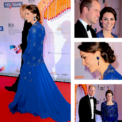 Kate Middleton and Prince Williams at Bollywood Charity Gala