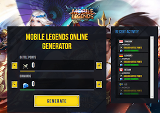 Mobilelegendshack fun.com || Generator Hack 500000 Diamonds dan 900000 BP [terbaru]