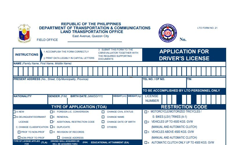 How to Renew Driver's License and Adding Restriction Code