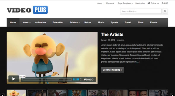 VideoPlus video Wordpress Theme Free Download.
