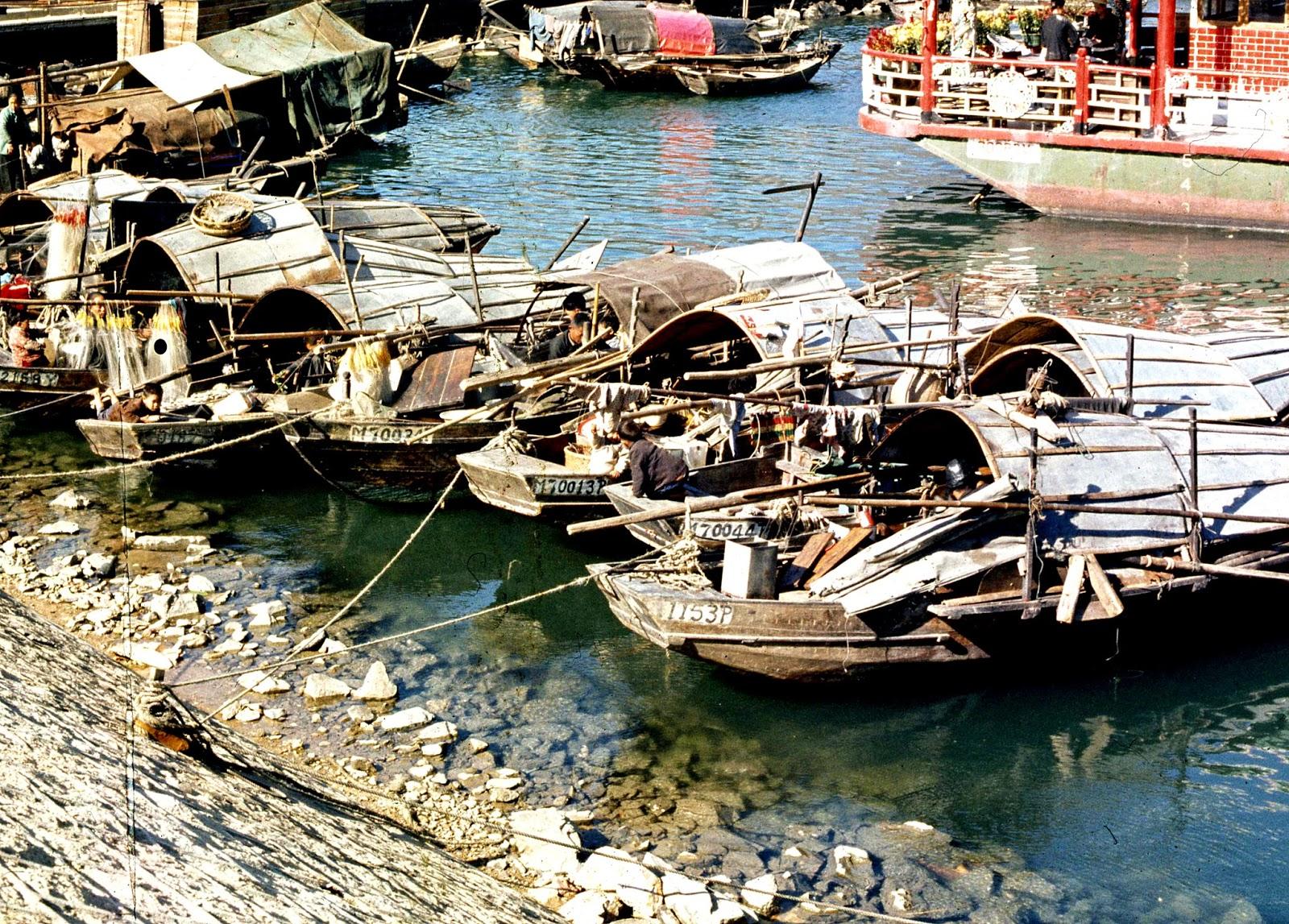 "Tanka ""on-water people"" junks - Hong Kong 1969"