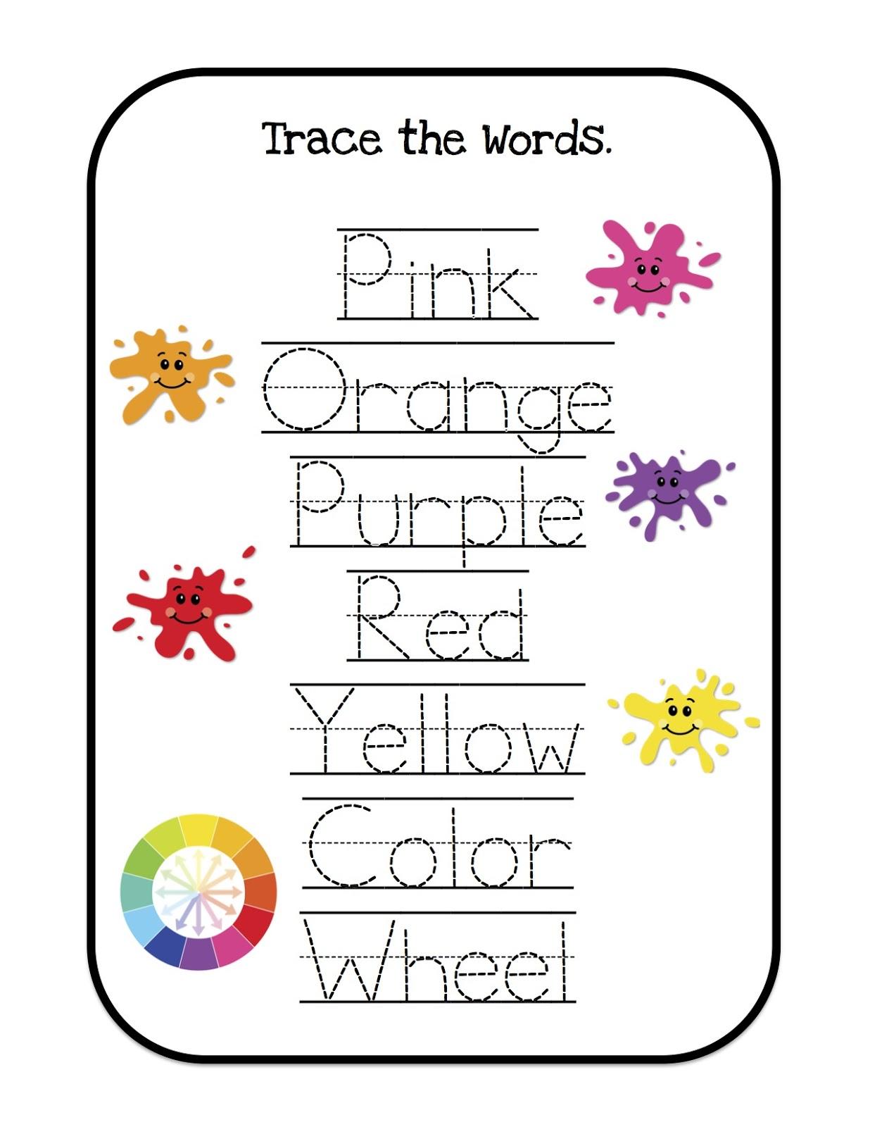Learning Colors Printable ~ Preschool Printables