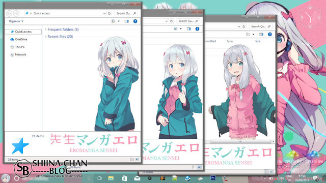 Windows 10 Ver. 1703 Theme Eromanga Sensei - Izumi Sagiri by Enji Riz.