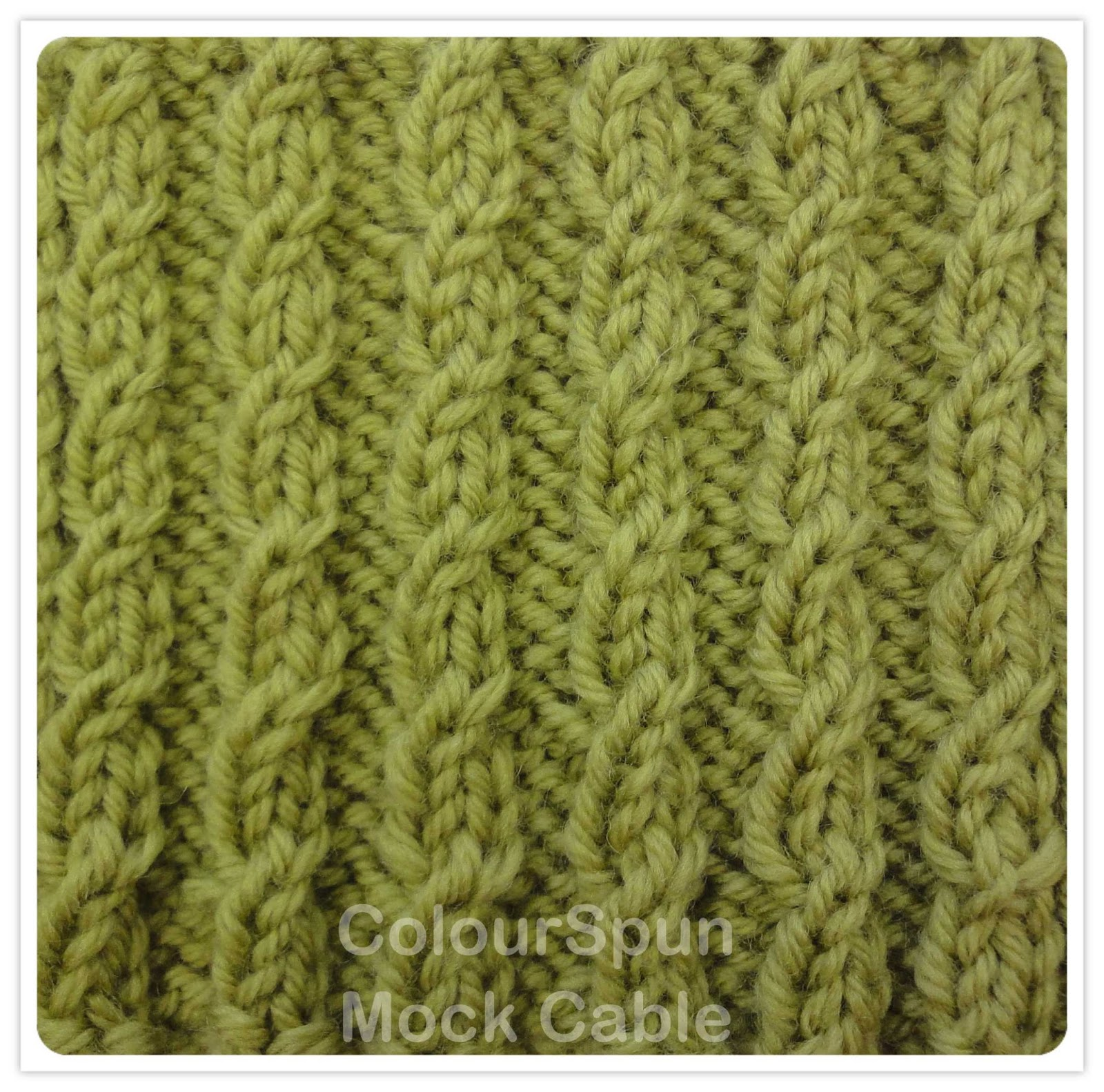 Colourspun Colourspun In Stitches Mock Cable