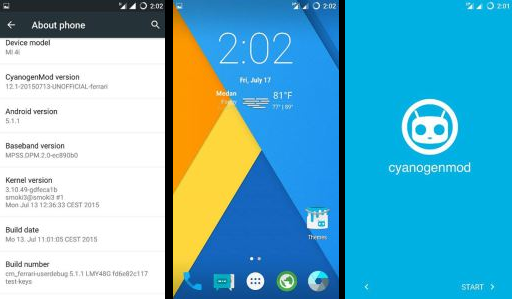 Custom ROM Cyanogenmod 12 1 For Xiaomi Mi4i Lollipop - Home