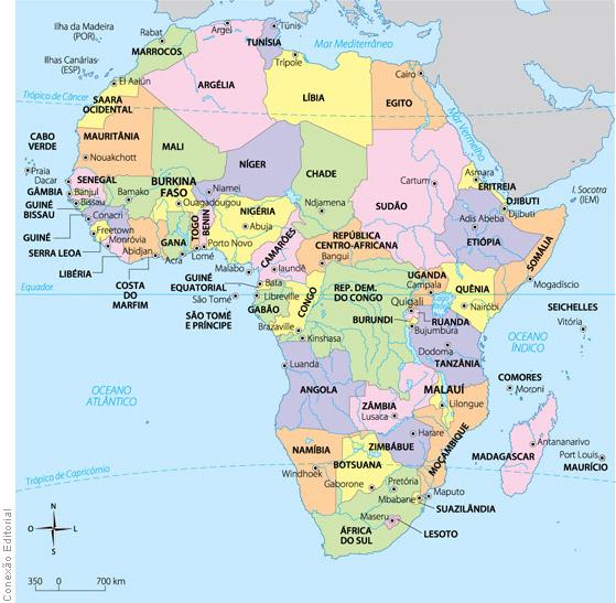 Professor Wladimir - Geografia Mapas sobre África