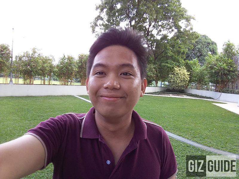 Selfie test in daylight