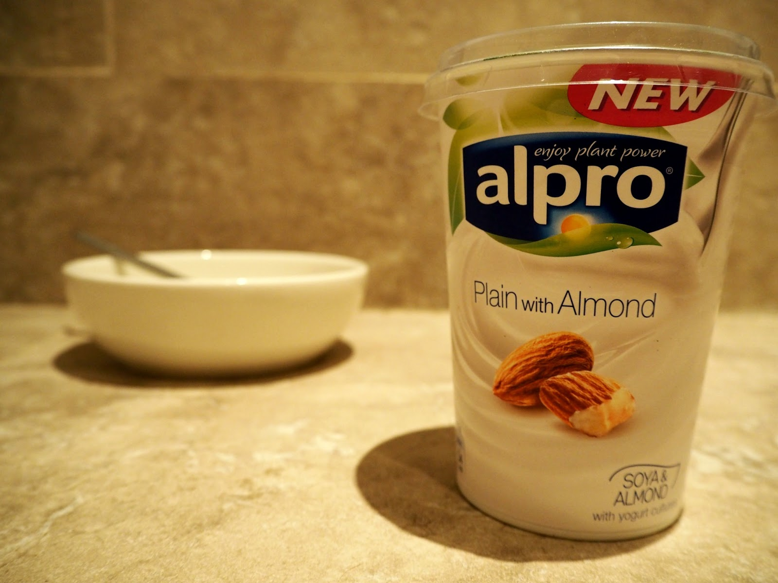 Bottle of alpro yoghurt