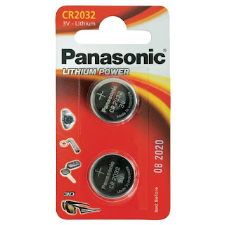 Limited CR2032 Battery (2 pack) Panasonic, Lithium Coin Cell 3V, £1.17 FREE postage