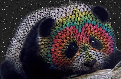 Panda de colores