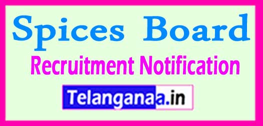 Spices Board Recruitment Notification