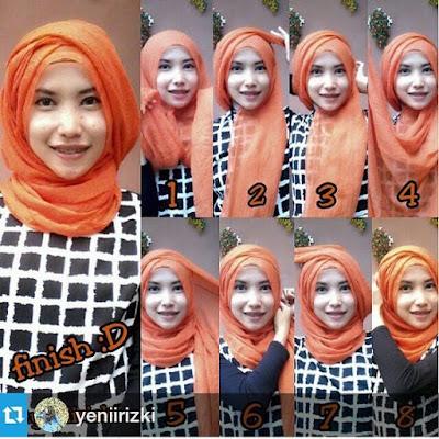 Tutorial Style Hijab Pashmina Semi Turban