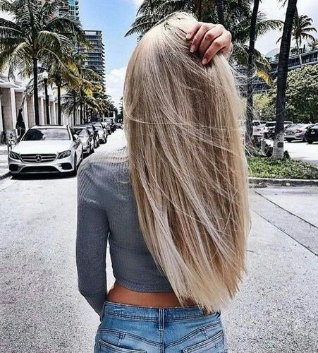 Brown long hairstyle