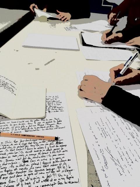 Participants de l'atelier d'écriture (Alcazar, Marseille)