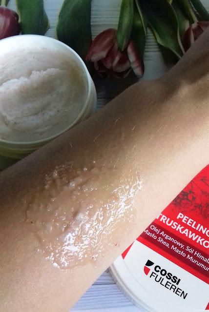 Cossi fuleren peeling truskawkowy do ciała