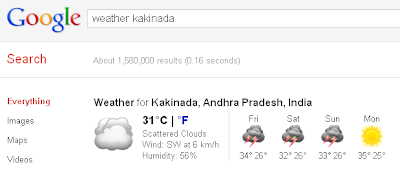 Google-weather-search