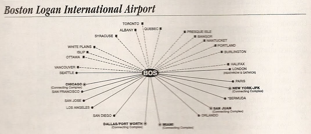 The Timetablist American Airlines Hub Maps 2002 Boston