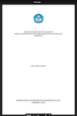 Silabus PKN SMP/MTS Kurikulum 2013 Revisi 2017