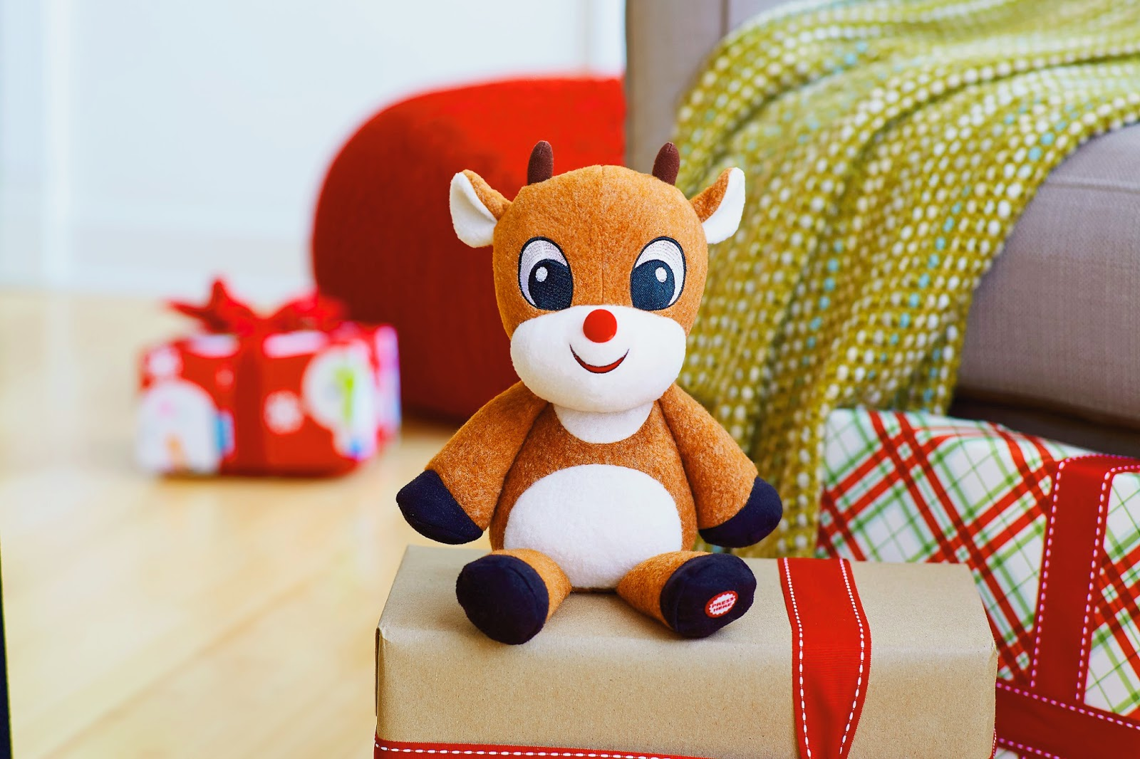 Hallmark Holiday Gifting - Rudolph Push and Play Techno Plush