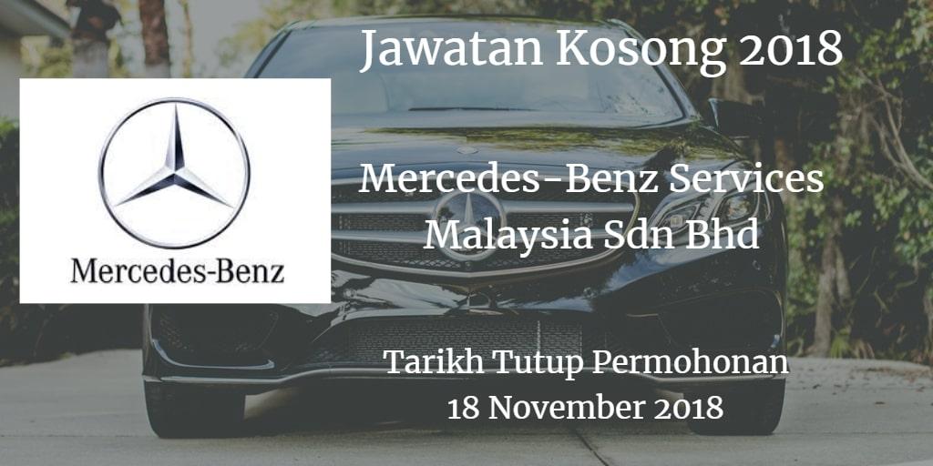 Jawatan Kosong Mercedes-Benz Services Malaysia Sdn Bhd 18 November 2018